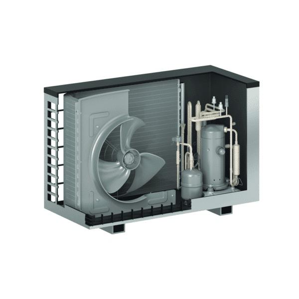 Viessmann VITOCAL 222-S 6kW-16kW šilumos siurblys oras - vanduo su integruotu boileriu