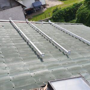 tvirtinimo konstrukcija ant šiferio stogo